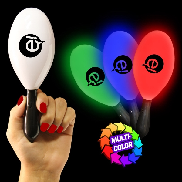 "Personalized 7 1/2"" Light-Up Glow Maraca"