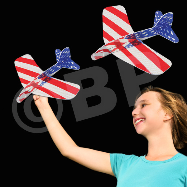 Customized Patriotic Laser Plane