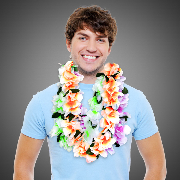 Imprinted Neon Flower Lei