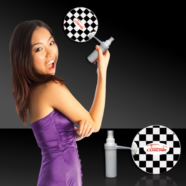 Printed Checkered  Flag Mist-R-Fan
