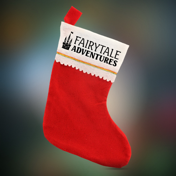 Custom Red Felt Christmas Stocking