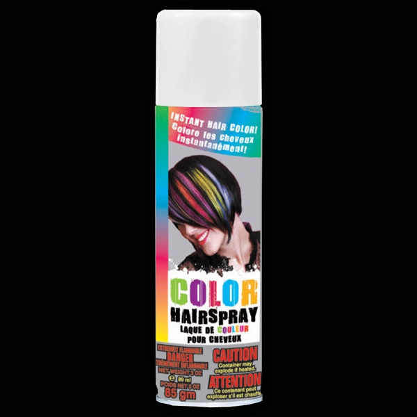 Printed White Hair Spray