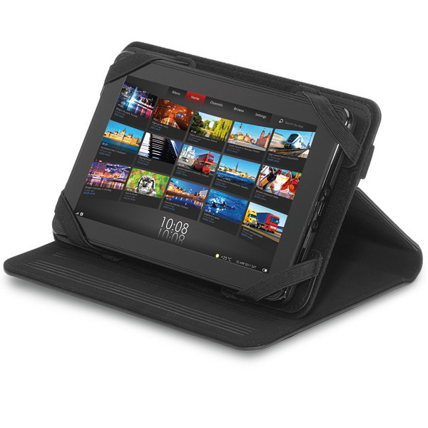 "Imprinted Brookstone (R) 7"" Leather Tablet Stand"