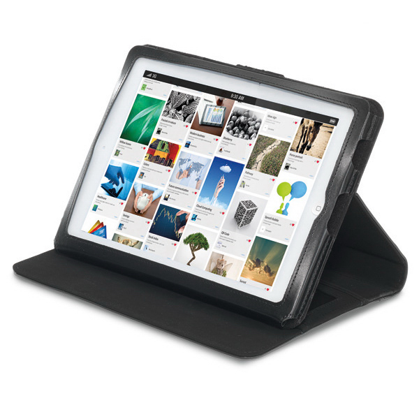 Printed Brookstone (R) Leather iPad (R) Stand with Sleeve