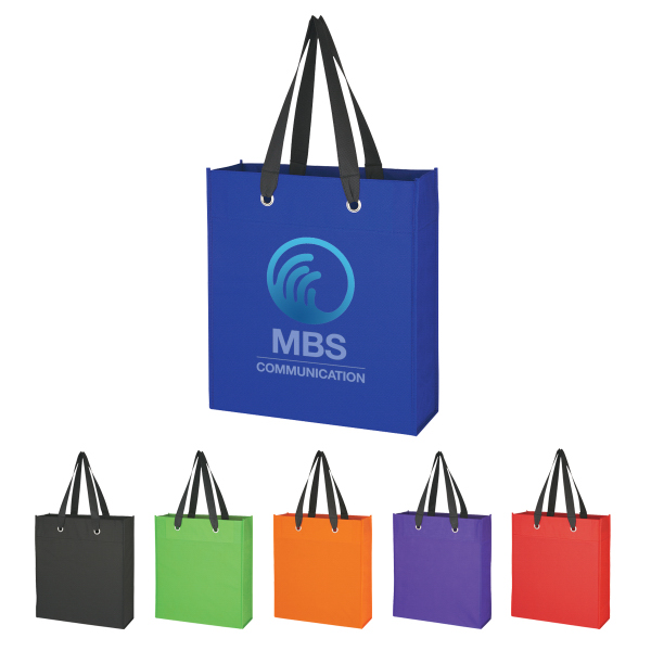 Printed Non-Woven Grommet Tote Bag