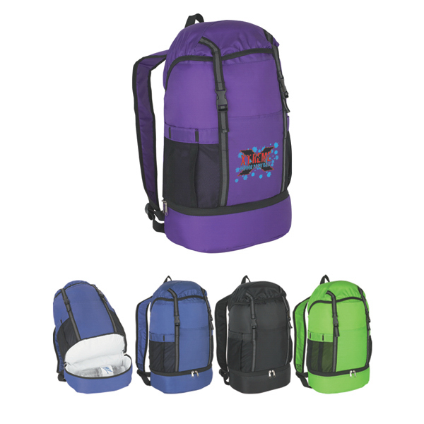 Custom Budget Sports Backpack With Insulated Bottom