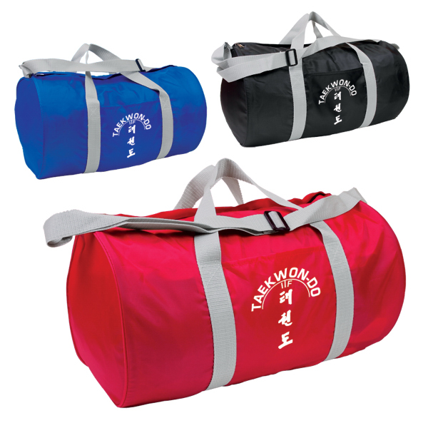 Imprinted Budget Barrel Duffel