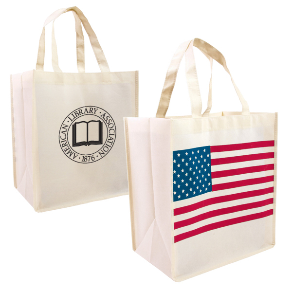 Custom Patriotic Nonwoven Shopping Tote