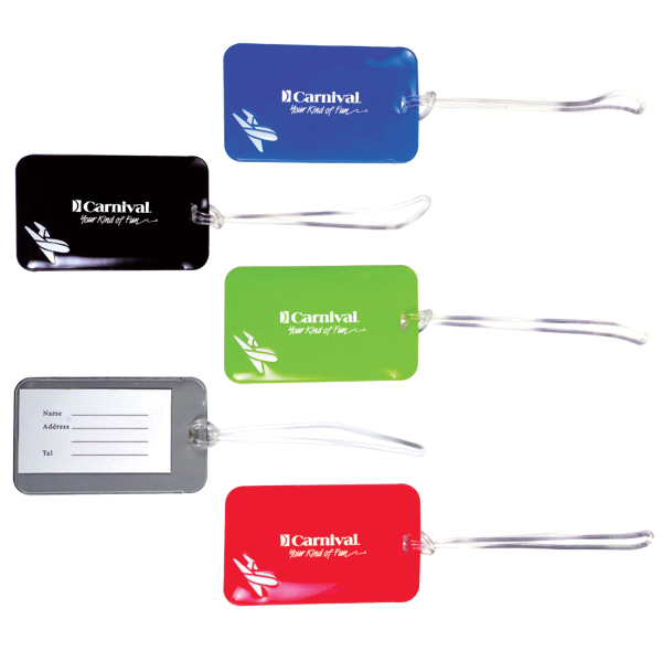 Promotional Vinyl Luggage Tag w/ Business Card Slot