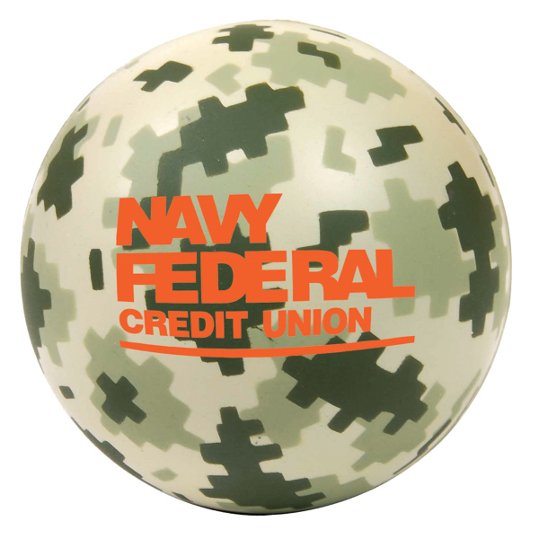 Personalized Digital Camo Round Stress Reliever