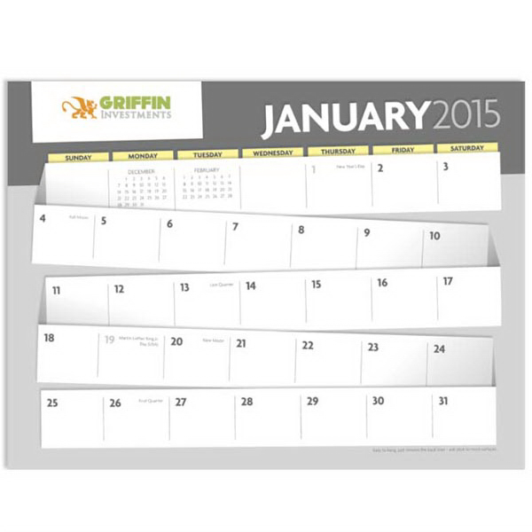 Promotional Adhesive Note Calendar
