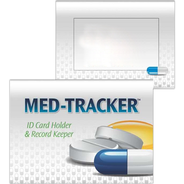 Imprinted Tracker - Med-Tracker: ID Card Holder and Record Keeper