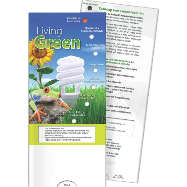 Imprinted Pocket Slider - Living Green