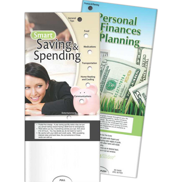 Imprinted Pocket Slider - Smart Saving and Spending