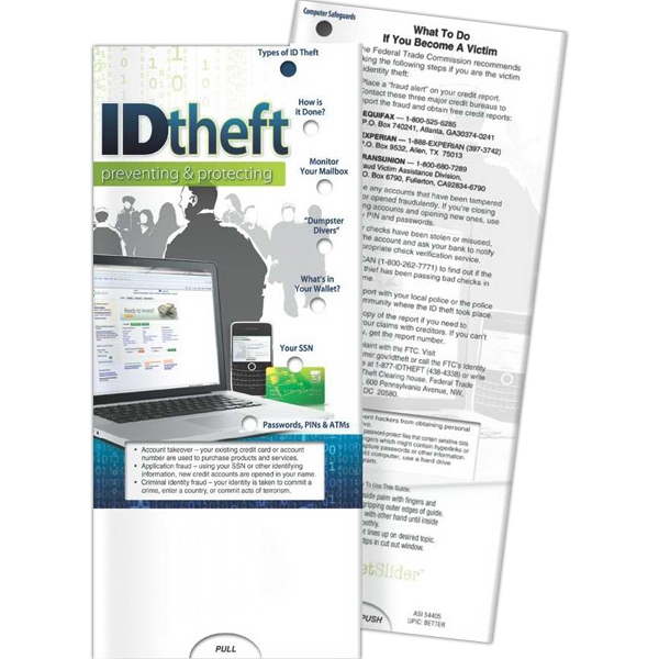 Customized Pocket Slider - ID Theft: Preventing and Protecting
