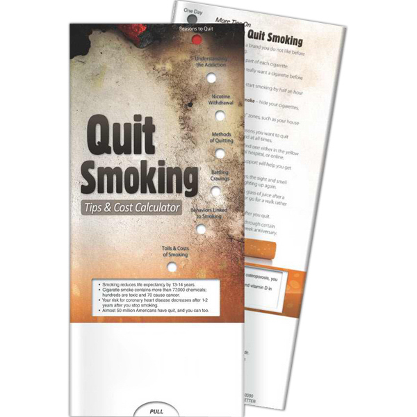 Customized Pocket Slider - Quit Smoking: Tips and Cost Calculator