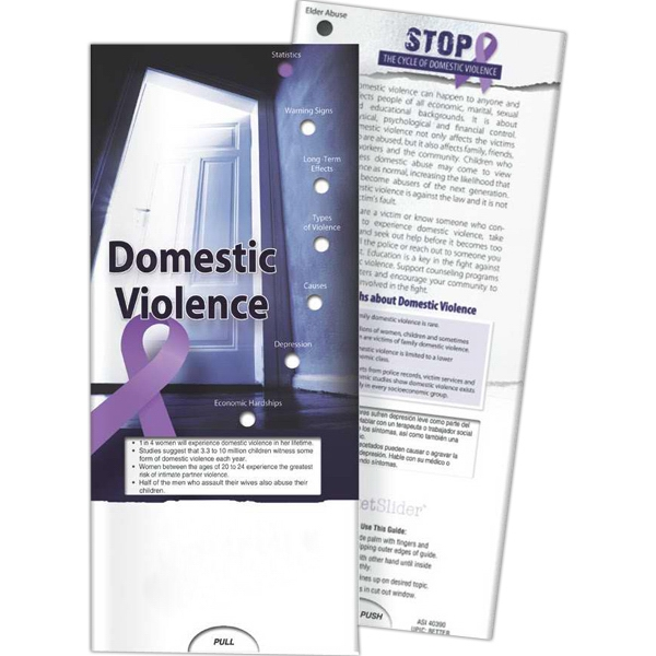 Personalized Pocket Slider - Domestic Violence