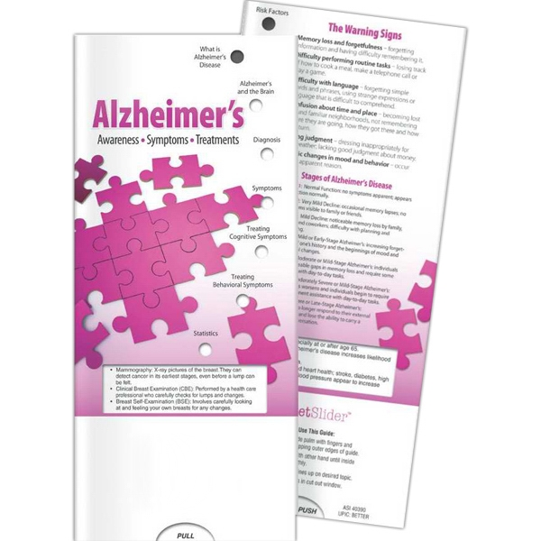 Promotional Pocket Slider - Alzheimer's: Awareness, Symptoms, Treatment