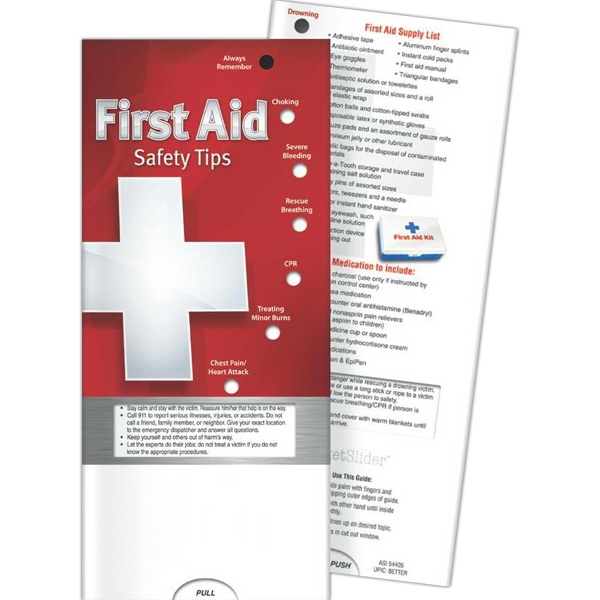 Promotional Pocket Slider - First Aid: Safety Tips