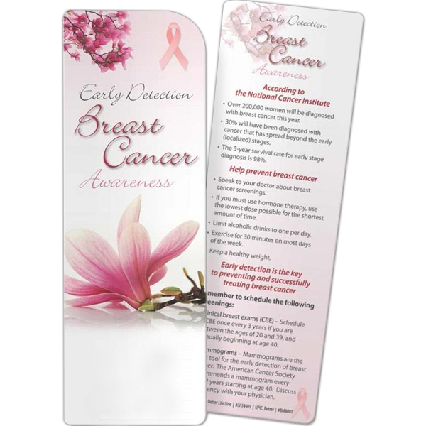 Promotional Bookmark - Breast Cancer Awareness: Early Detection