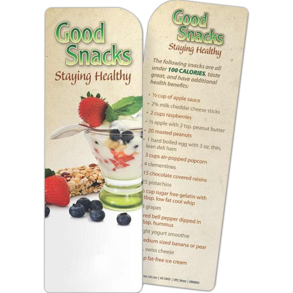 Promotional Bookmark - Good Snacks: Staying Healthy