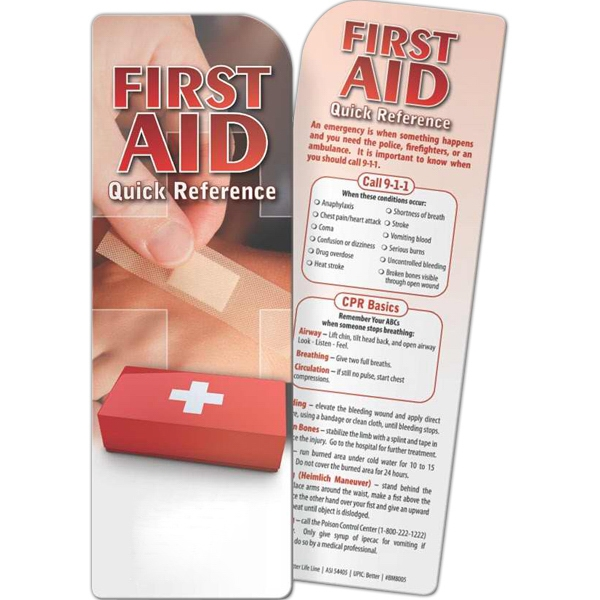 Imprinted Bookmark - First Aid: Quick Reference