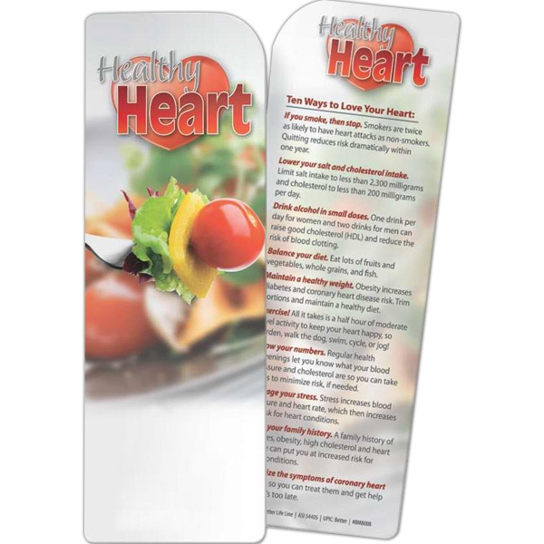 Custom Bookmark - Healthy Heart