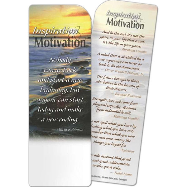 Custom Bookmark - Inspiration and Motivation