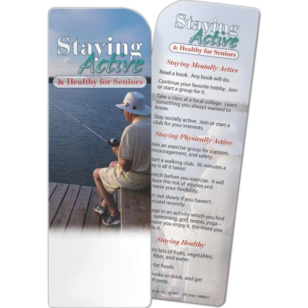 Custom Bookmark - Staying Active and Healthy for Seniors
