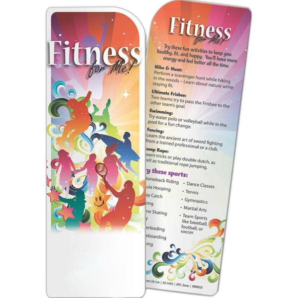 Printed Bookmark - Fitness for Me!