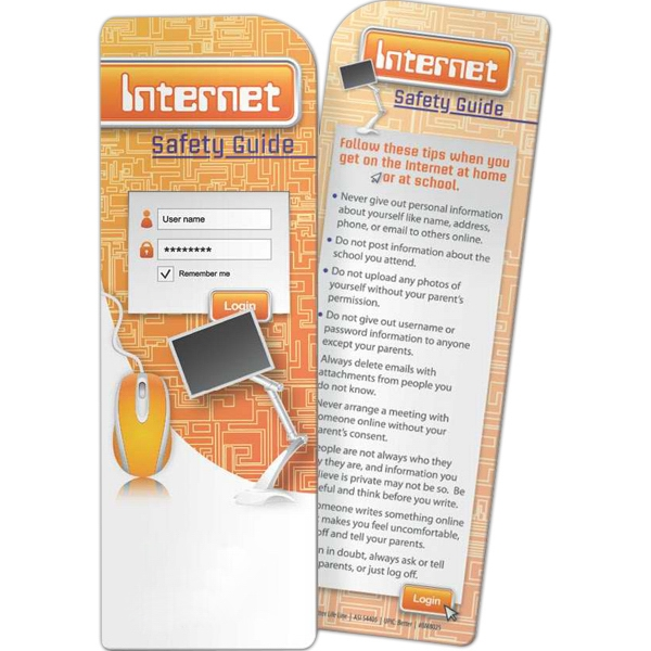 Personalized Bookmark - Internet Safety Guide