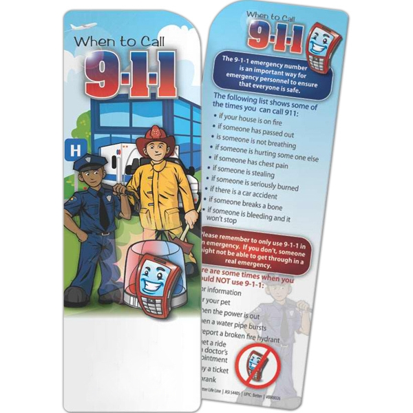 Personalized Bookmark - When to Call 9-1-1
