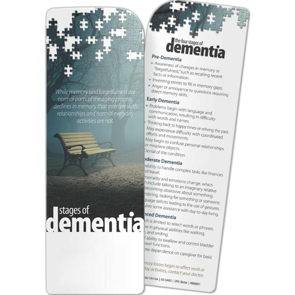 Custom Bookmark - Stages of Dementia