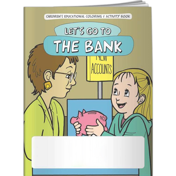 Personalized Coloring Book - Let's Go to the Bank
