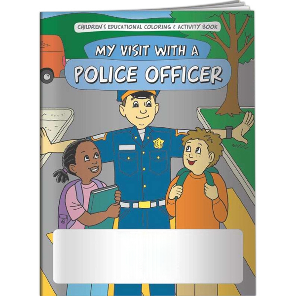 Imprinted Coloring Book - My Visit With a Police Officer
