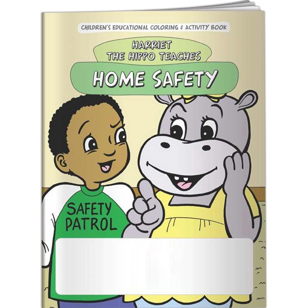 Imprinted Coloring Book - Home Safety with Harriet the Hippo