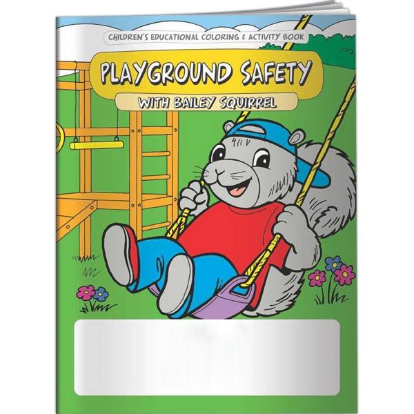Printed Coloring Book - Playground Safety with Bailey Squirrel