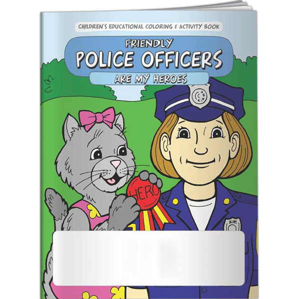 Personalized Coloring Book - Friendly Police Officers are My Heroes