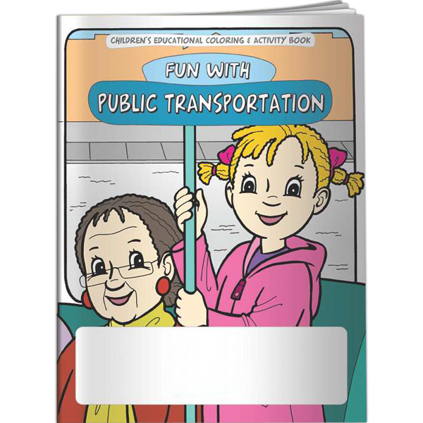 Customized Coloring Book - Fun With Public Transportation