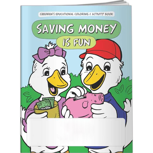 Imprinted Coloring Book - Saving Money is Fun