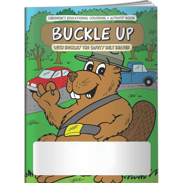 Customized Coloring Book - Buckle Up with Buckley the Safety Belt Beave