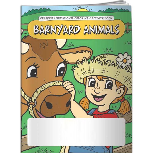Printed Coloring Book - Barnyard Animals