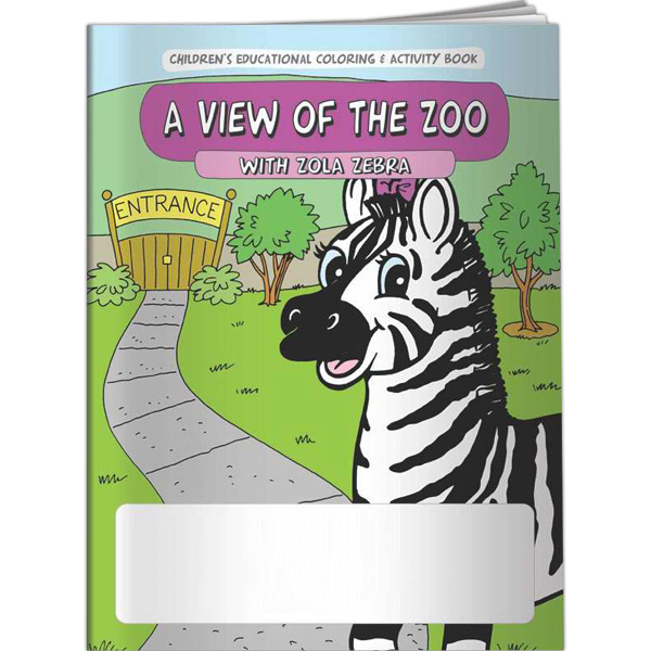 Printed Coloring Book - A View of the Zoo with Zola Zebra