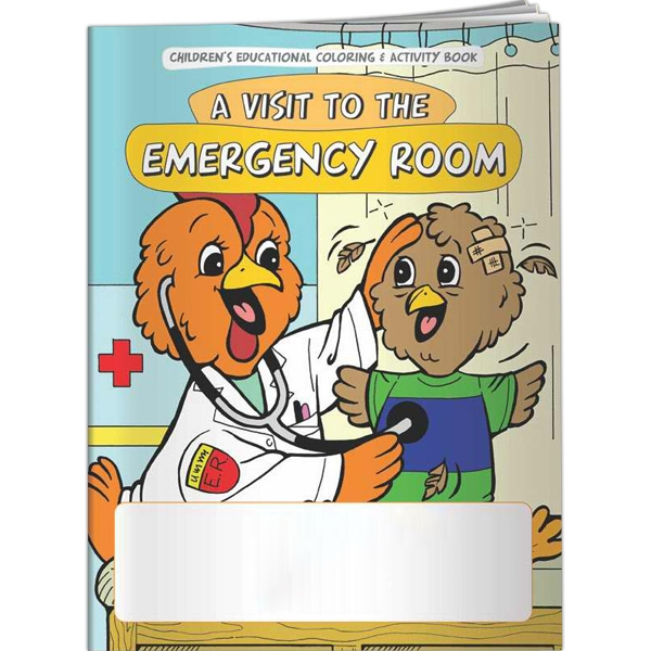 Custom Coloring Book - A Visit to the Emergency Room