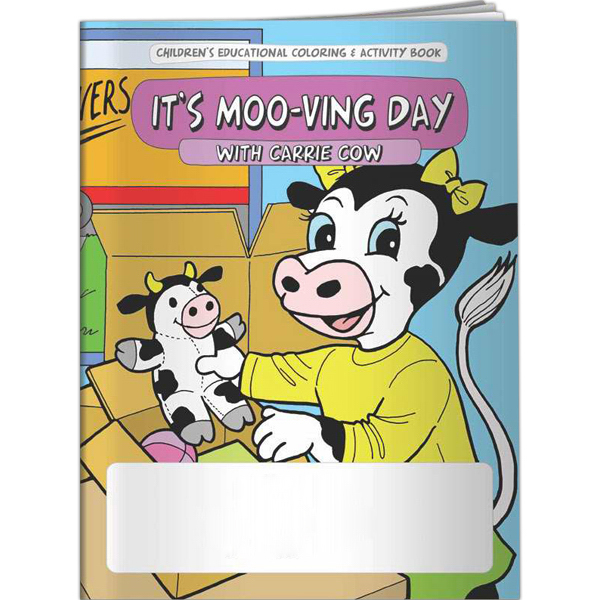 Custom Coloring Book - It's Moo-ving Day with Carrie Cow