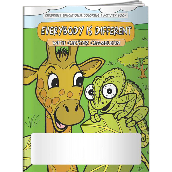 Printed Coloring Book - Everybody is Different with Chester Chameleo