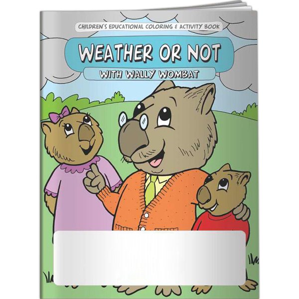 Imprinted Coloring Book - Weather or Not with Wally Wombat