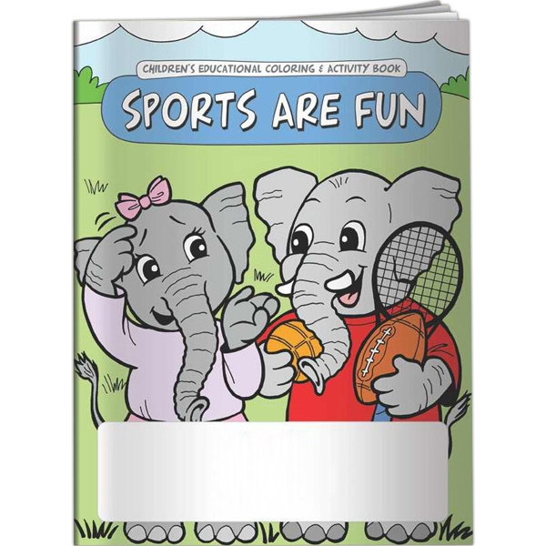 Printed Coloring Book - Sports are Fun
