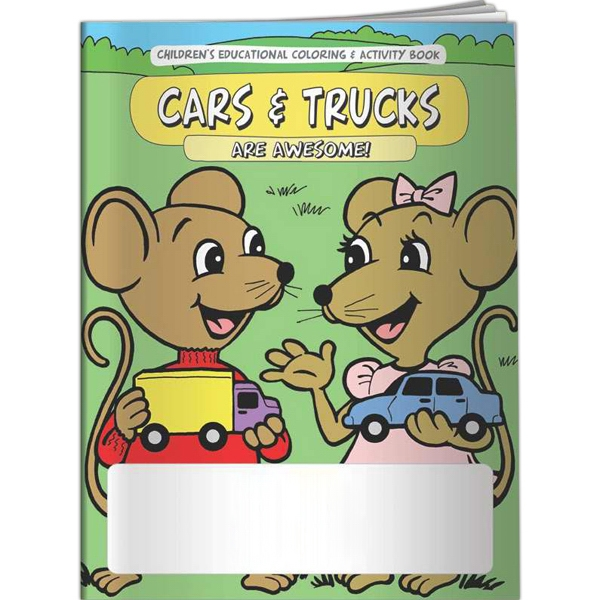 Personalized Coloring Book - Cars and Trucks Are Awesome!