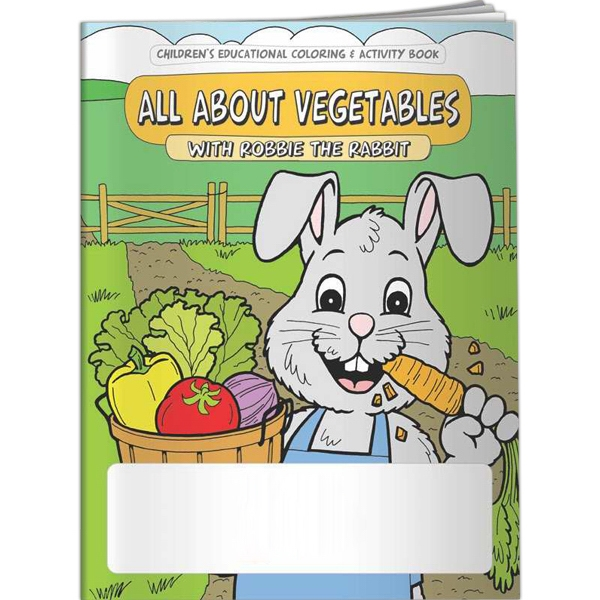 Imprinted Coloring Book - All About Vegetables with Robbie Rabbit